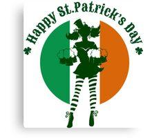 Saint Patricks Day Party Design Canvas Print