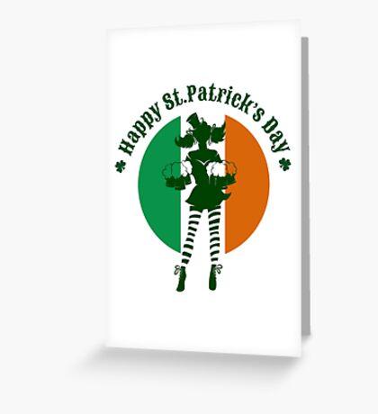 Saint Patricks Day Party Design Greeting Card