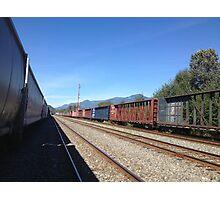 Seato sky Rail Yard- Sunny Photographic Print