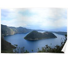 Cliffs and Islands in Lake Cuicocha Poster