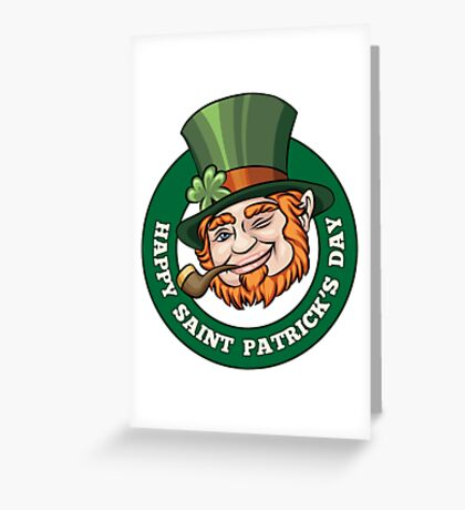 Saintt Patricks Day Badge Greeting Card