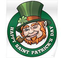 Saintt Patricks Day Badge Poster