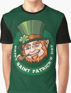 Saintt Patricks Day Badge Graphic T-Shirt