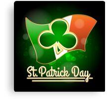Saint Patricks Day Greeting Theme Canvas Print