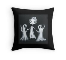 Walking the Ghosts Throw Pillow