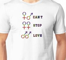 Can't stop love. Unisex T-Shirt