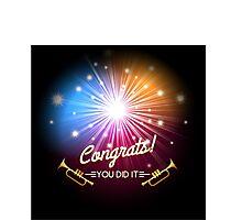 Congrats Fireworks Photographic Print