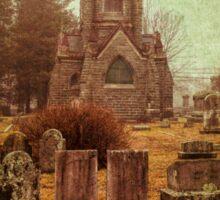 At Evergreen Cemetery Sticker