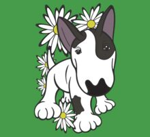 English Bull Terrier Pup Daisies  Kids Clothes