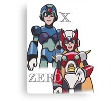 Mega Man X and Zero Canvas Print