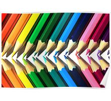 Colored Pencil Angles Poster