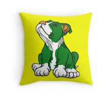 Irish American Bull Terrier Pup Throw Pillow