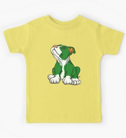 Irish American Bull Terrier Pup Kids Tee