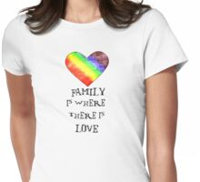 Family is where there is love. Womens Fitted T-Shirt