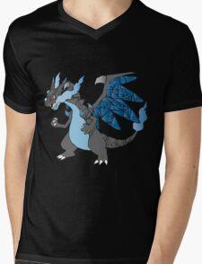 Pokemon  Charizard Mega evolution X Mens V-Neck T-Shirt