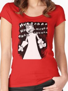 Doctor Horrible - Non Transparent Evil Laugh Women's Fitted Scoop T-Shirt