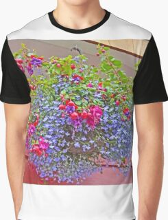 A colourful Hanging Basket Graphic T-Shirt