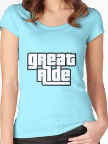 great ride Women's Fitted Scoop T-Shirt