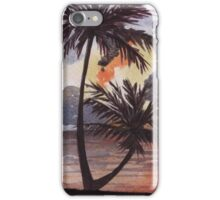 Tropical Sunset, Tranquil Beach iPhone Case/Skin