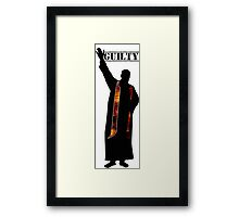 Guilty Priest (Silhouette)  Framed Print