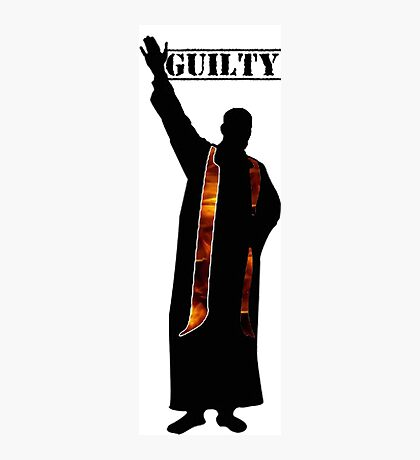 Guilty Priest (Silhouette)  Photographic Print