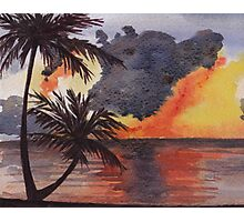 Tropical Sunset, Tranquil Beach Photographic Print