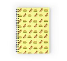 Hot dogs and Hamburgers Spiral Notebook