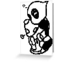 SpideyPool Pixel Greeting Card