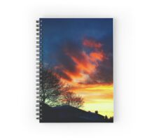 Red Sunset and Dark Clouds Spiral Notebook