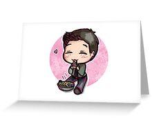 Dean Loves Pie Greeting Card