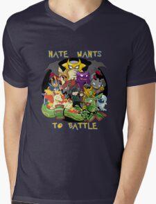 Natewantstobattle Mens V-Neck T-Shirt