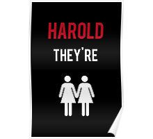 Harold, They're Lesbians  Poster