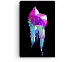 Rainbow Crystallized Tooth Design Canvas Print