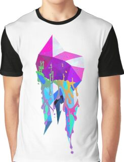 Rainbow Crystallized Tooth Design Graphic T-Shirt