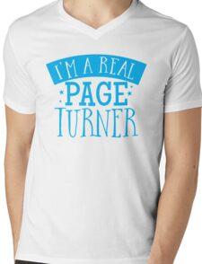 I'm a real page turner Mens V-Neck T-Shirt