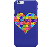 Autism heart jigsaw puzzle design iPhone Case/Skin