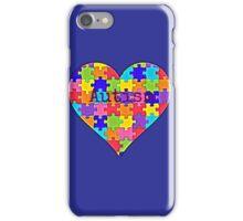 Autism heart jigsaw puzzle design iPhone Case/Skin