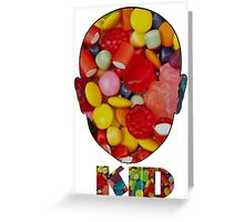Candyface Kid Greeting Card