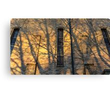 modernist church at sunset with shadows Canvas Print