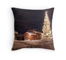 Christmastime in Skellefteå Throw Pillow