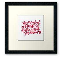 Feminism quote Framed Print