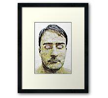 Blind Man Dark Portrait Framed Print