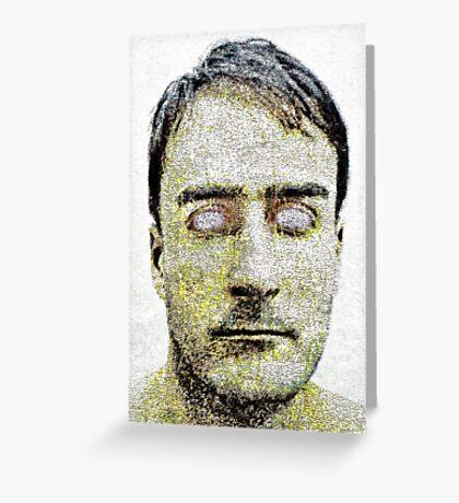 Blind Man Dark Portrait Greeting Card