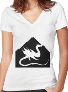 Under the Mountain Women's Fitted V-Neck T-Shirt