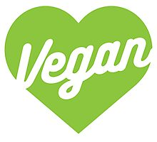 Vegan Heart Photographic Print