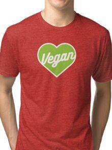 Vegan Heart Tri-blend T-Shirt
