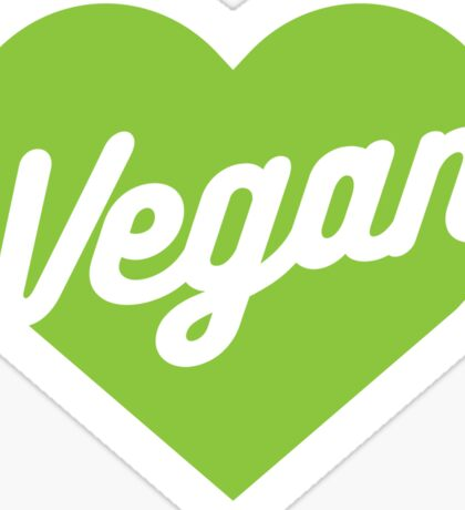 Vegan Heart Sticker