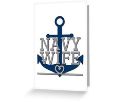 Navy Wife Greeting Card