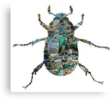 Trash Beetle (White) Canvas Print