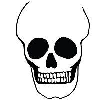 Naked Skull Photographic Print